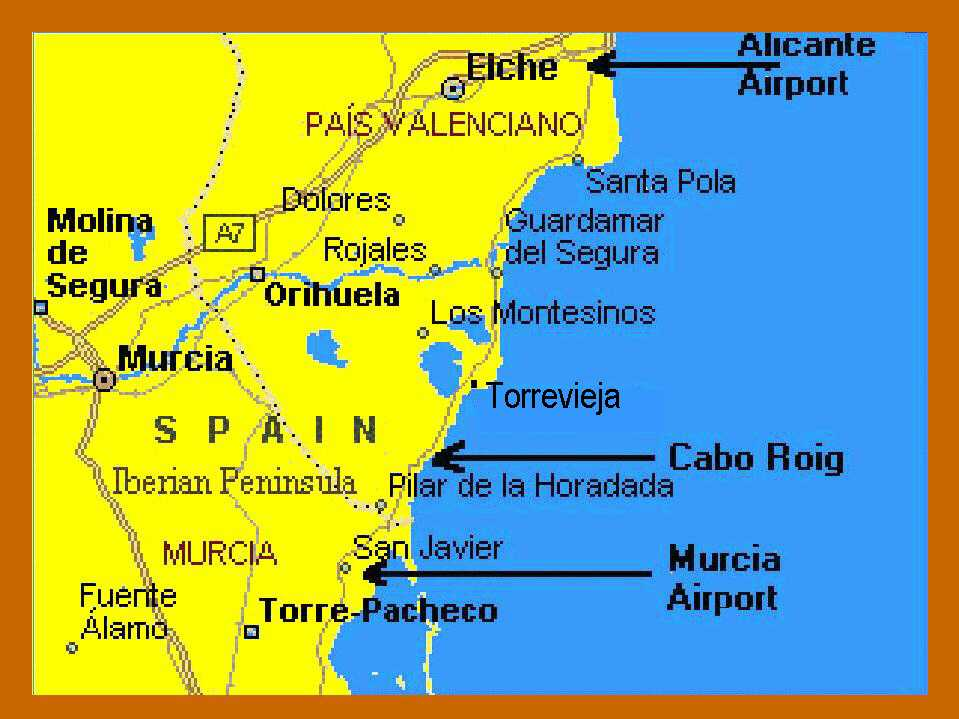 Cabo Roig Map alicante